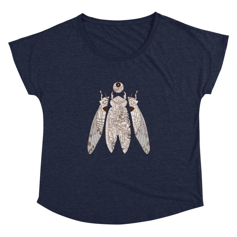 cicada poem Women's Dolman by makapa's Artist Shop