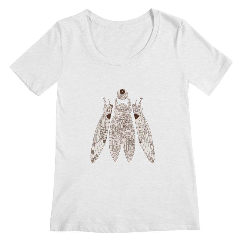 cicada poem Women's Scoopneck by makapa's Artist Shop