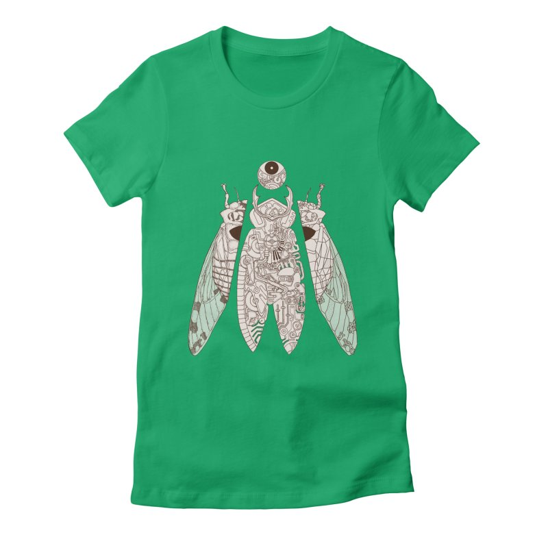 cicada poem Women's Fitted T-Shirt by makapa's Artist Shop