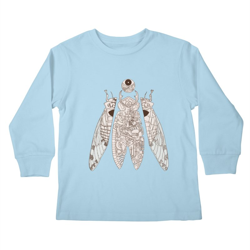 cicada poem Kids Longsleeve T-Shirt by makapa's Artist Shop