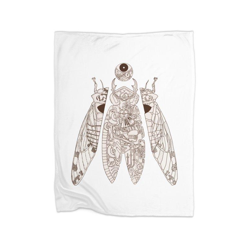 cicada poem Home Fleece Blanket Blanket by makapa's Artist Shop
