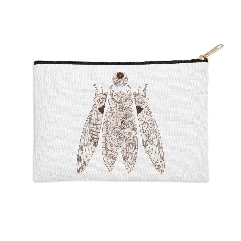 cicada poem Accessories Zip Pouch by makapa's Artist Shop