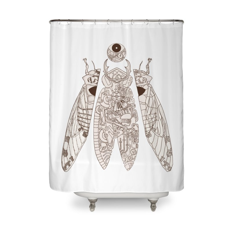 cicada poem Home Shower Curtain by makapa's Artist Shop