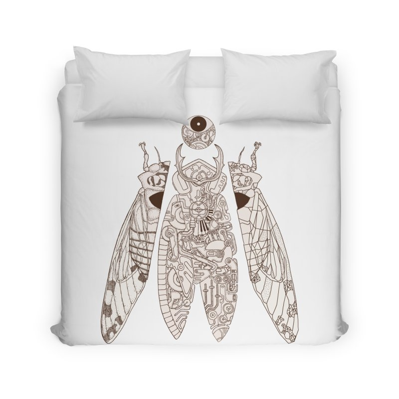 cicada poem Home Duvet by makapa's Artist Shop