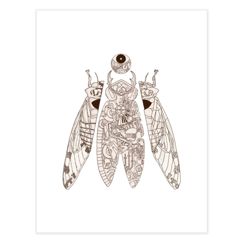 cicada poem Home Fine Art Print by makapa's Artist Shop