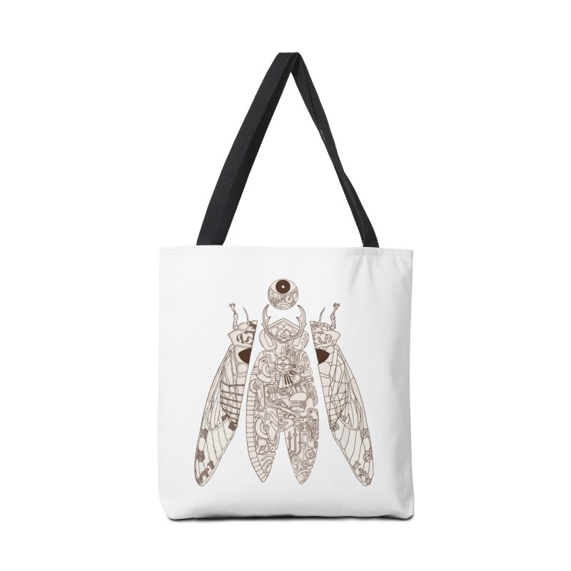 cicada poem Accessories Bag by makapa's Artist Shop