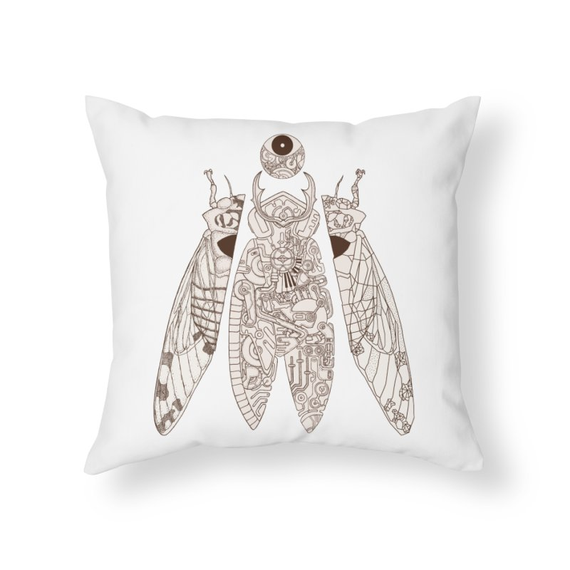 cicada poem Home Throw Pillow by makapa's Artist Shop