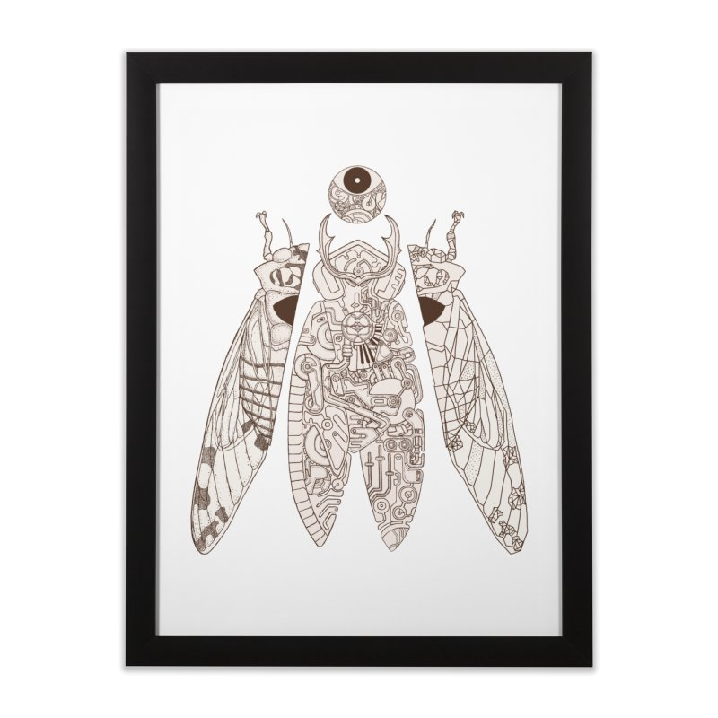 cicada poem Home Framed Fine Art Print by makapa's Artist Shop