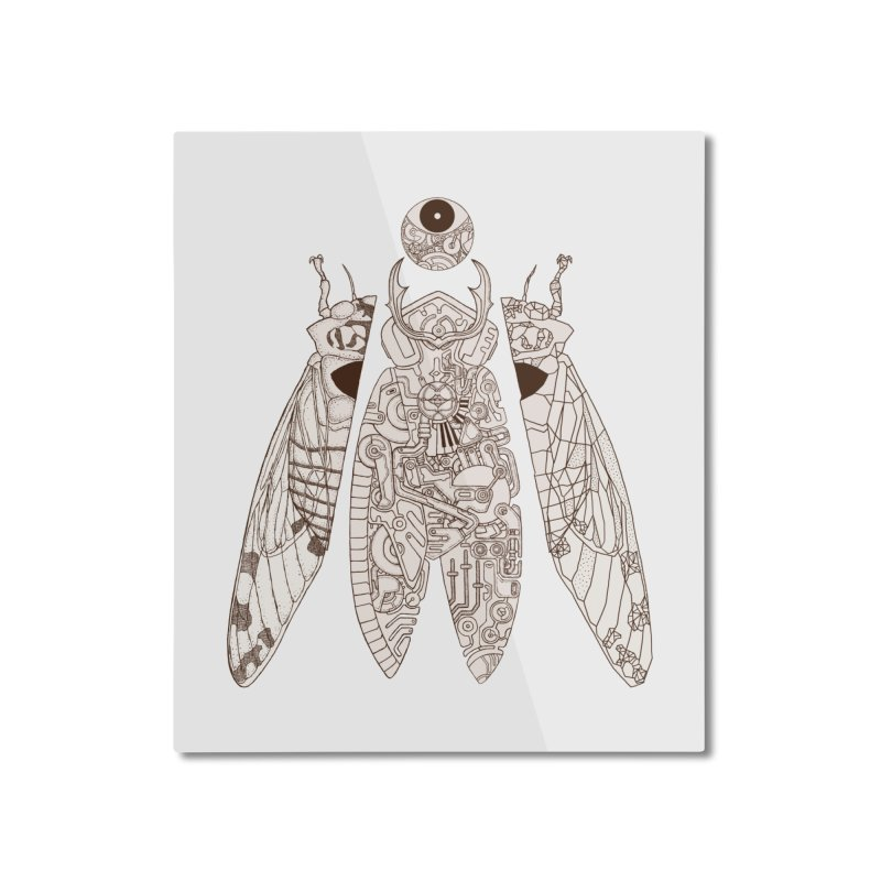 cicada poem Home Mounted Aluminum Print by makapa's Artist Shop