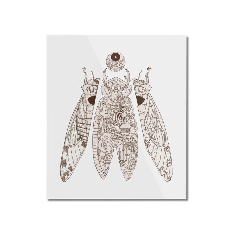 cicada poem Home Mounted Acrylic Print by makapa's Artist Shop