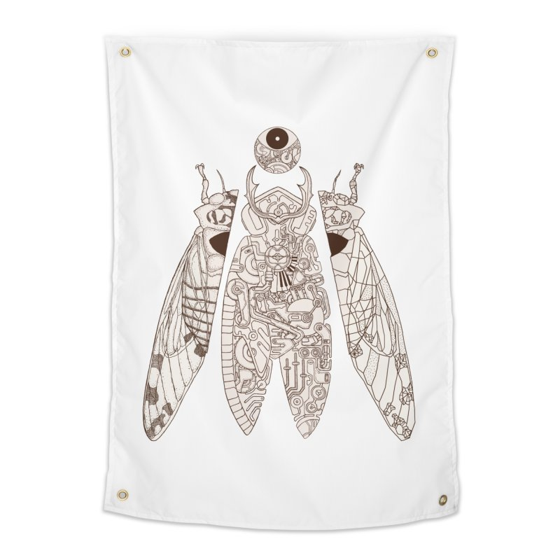 cicada poem Home Tapestry by makapa's Artist Shop
