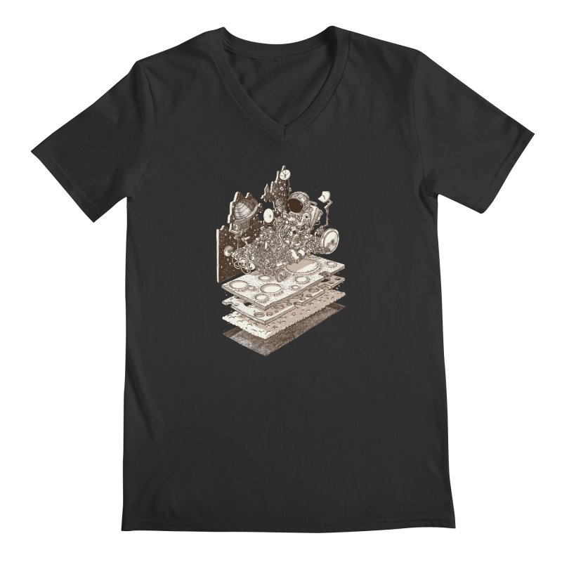 dream rover Men's V-Neck by makapa's Artist Shop