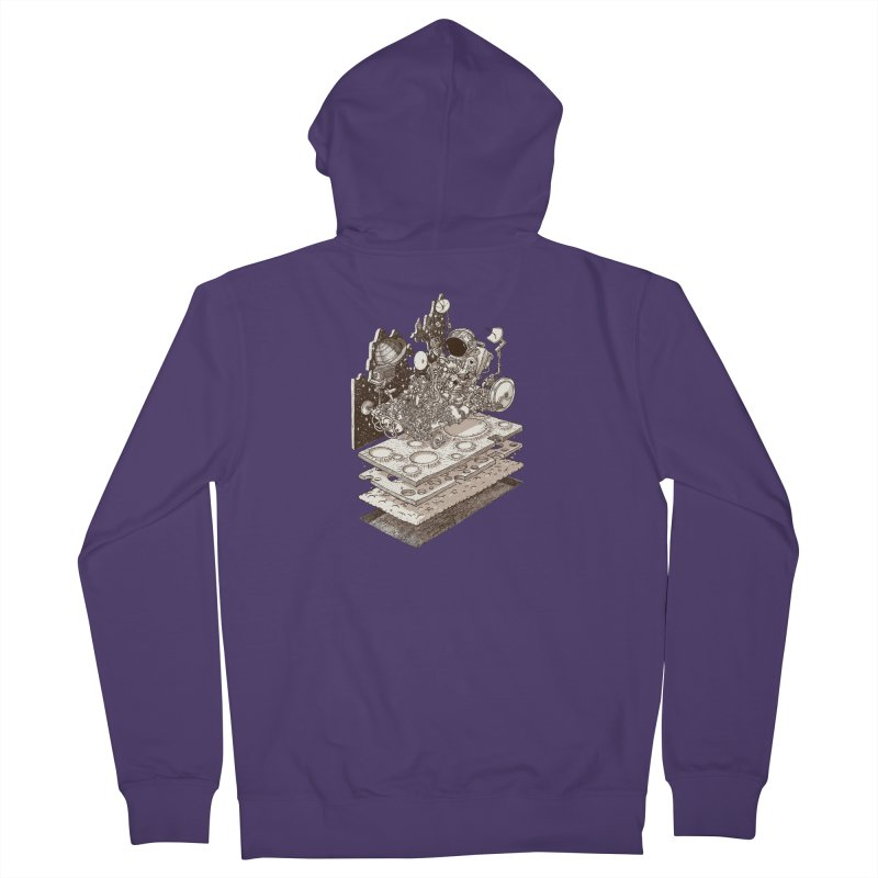 dream rover Women's Zip-Up Hoody by makapa's Artist Shop
