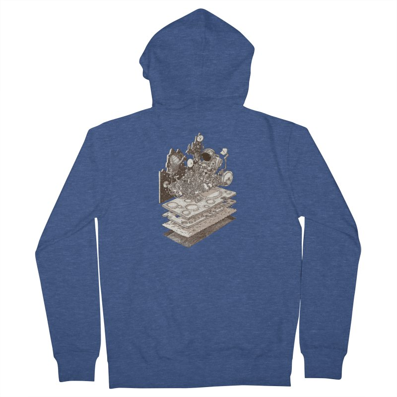 dream rover Men's French Terry Zip-Up Hoody by makapa's Artist Shop