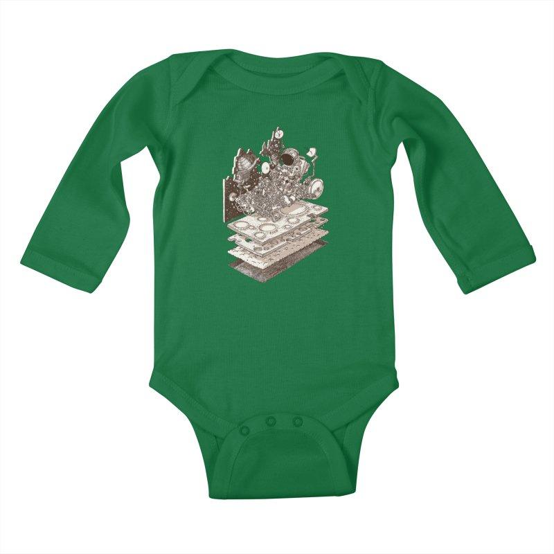 dream rover Kids Baby Longsleeve Bodysuit by makapa's Artist Shop