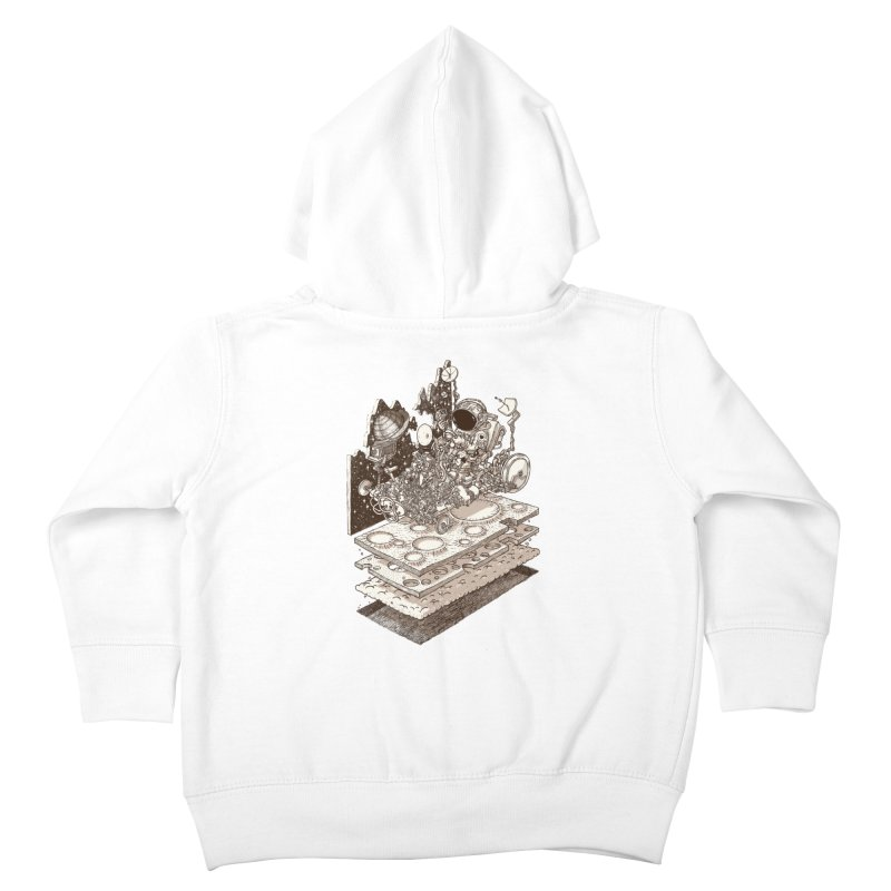 dream rover Kids Toddler Zip-Up Hoody by makapa's Artist Shop