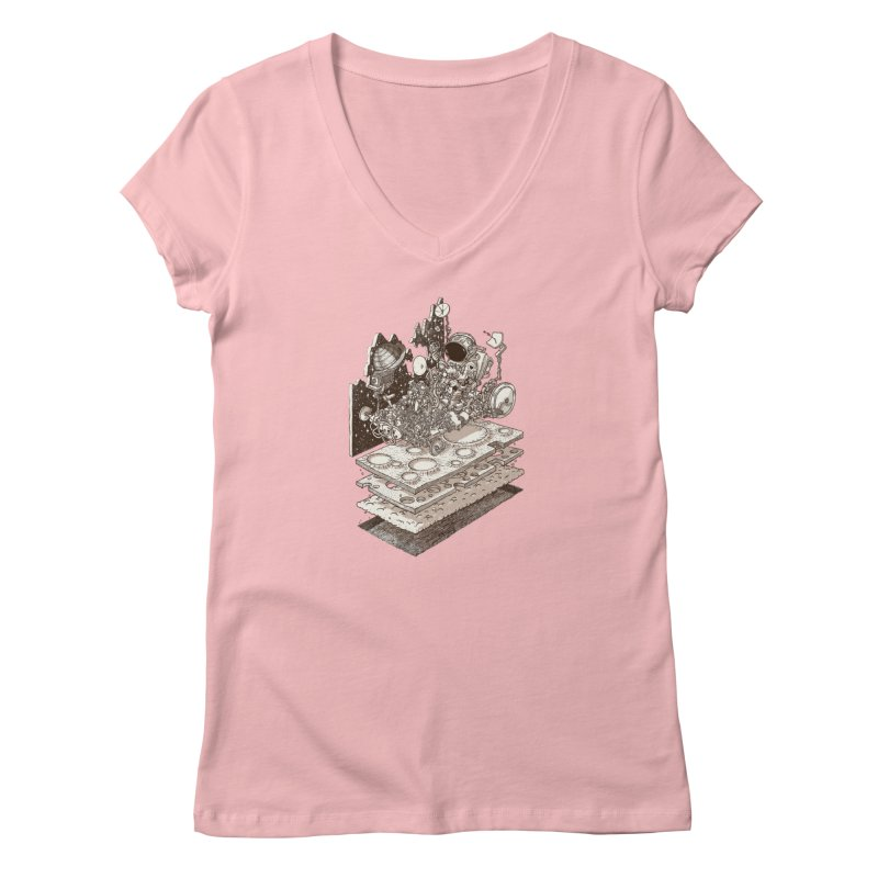 dream rover Women's V-Neck by makapa's Artist Shop