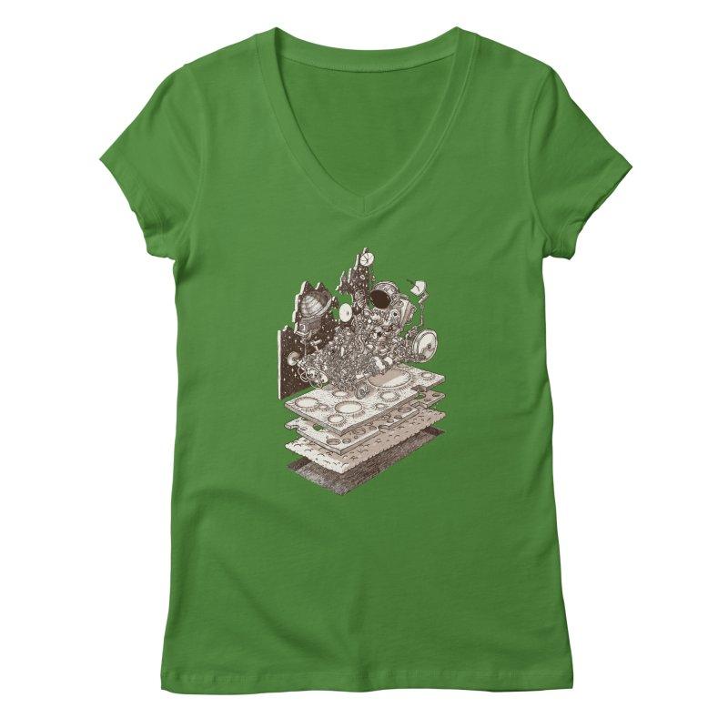 dream rover Women's V-Neck by makapa's Artist Shop