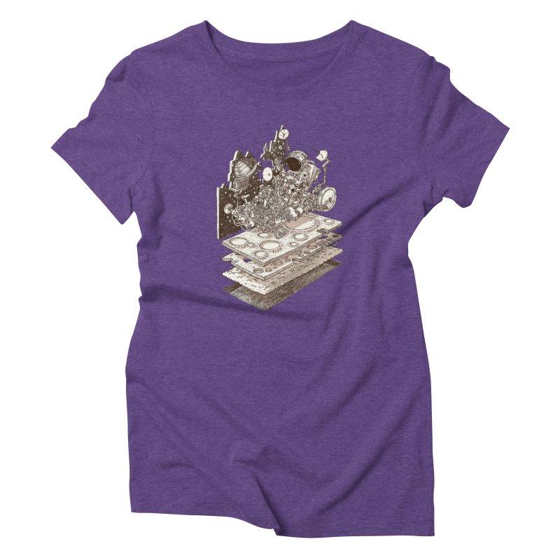 dream rover Women's Triblend T-Shirt by makapa's Artist Shop