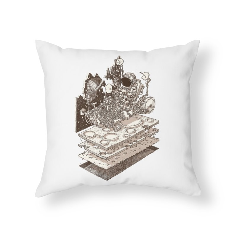 dream rover Home Throw Pillow by makapa's Artist Shop