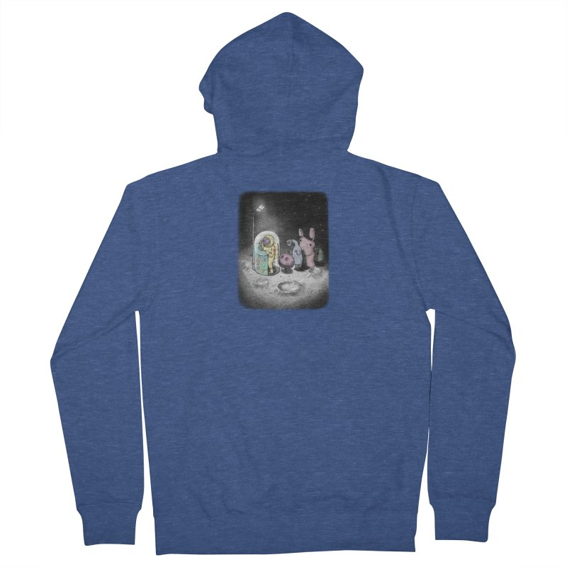 hello mom Men's French Terry Zip-Up Hoody by makapa's Artist Shop