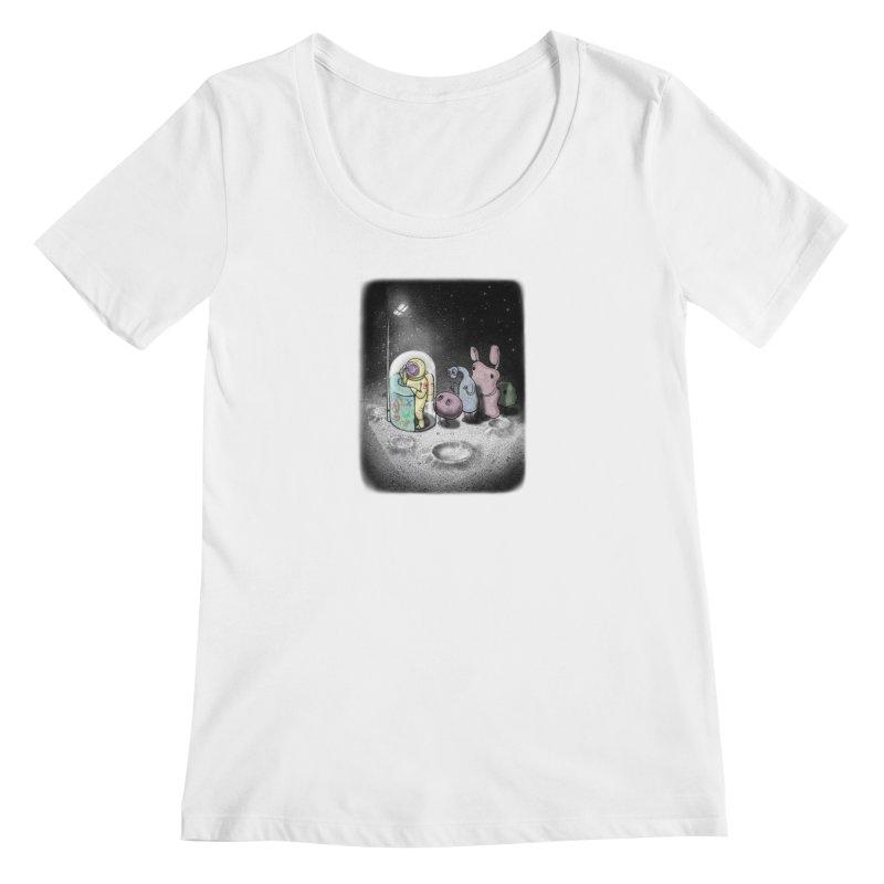 hello mom Women's Regular Scoop Neck by makapa's Artist Shop