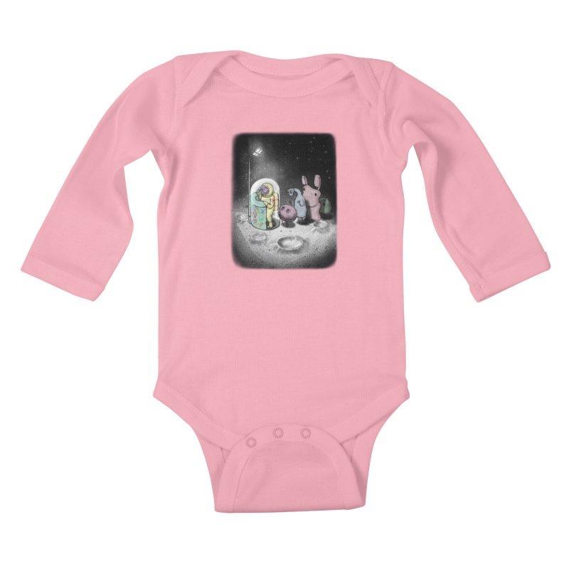 hello mom Kids Baby Longsleeve Bodysuit by makapa's Artist Shop