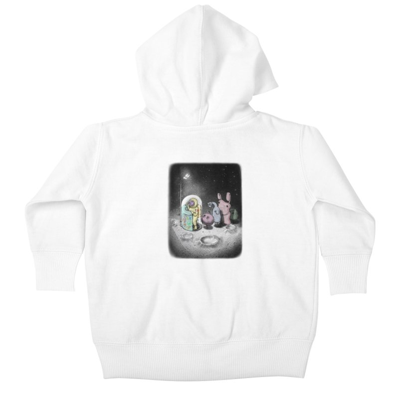 hello mom Kids Baby Zip-Up Hoody by makapa's Artist Shop