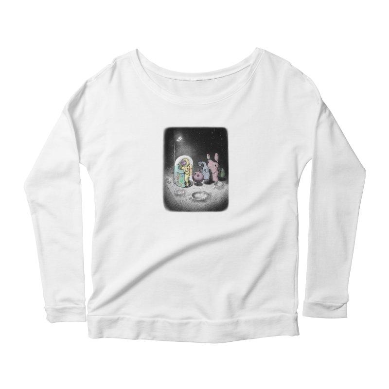 hello mom Women's Scoop Neck Longsleeve T-Shirt by makapa's Artist Shop