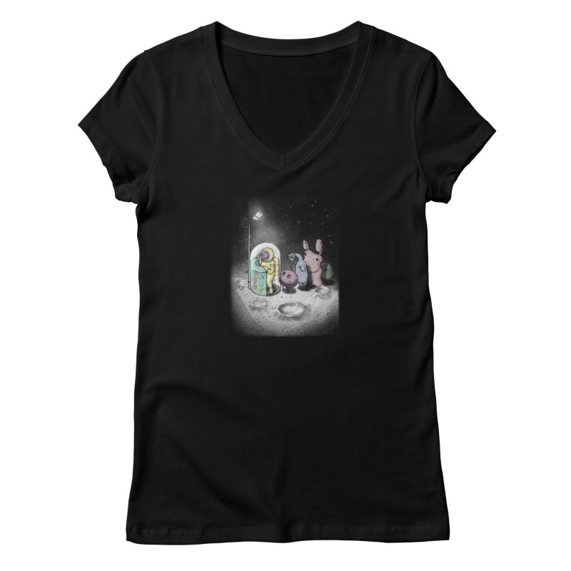 hello mom Women's V-Neck by makapa's Artist Shop