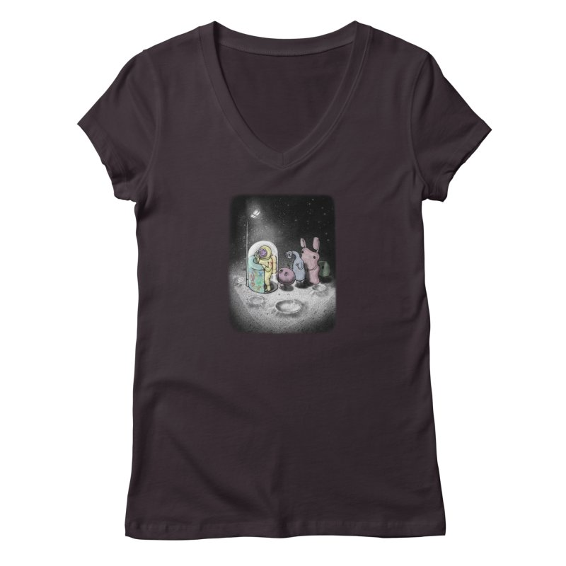 hello mom Women's Regular V-Neck by makapa's Artist Shop