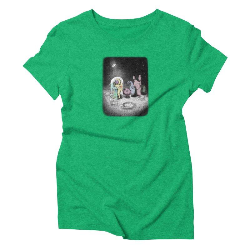 hello mom Women's Triblend T-Shirt by makapa's Artist Shop