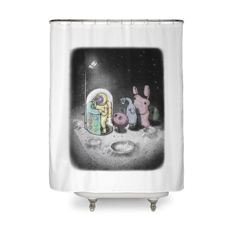 hello mom Home Shower Curtain by makapa's Artist Shop