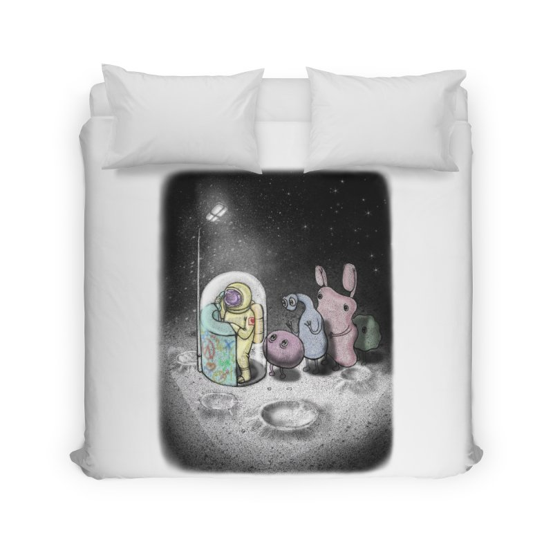 hello mom Home Duvet by makapa's Artist Shop