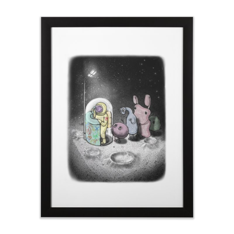 hello mom Home Framed Fine Art Print by makapa's Artist Shop