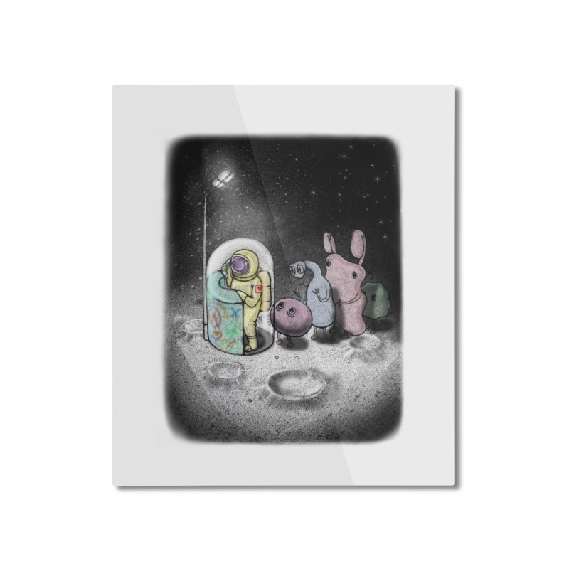 hello mom Home Mounted Aluminum Print by makapa's Artist Shop