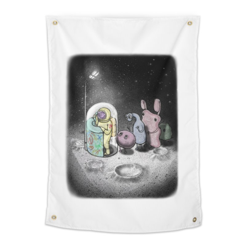 hello mom Home Tapestry by makapa's Artist Shop