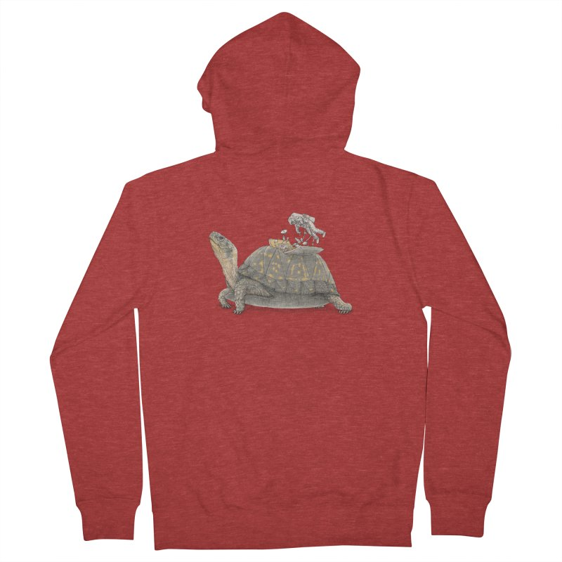 busy in holiday Men's French Terry Zip-Up Hoody by makapa's Artist Shop