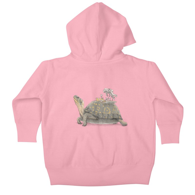 busy in holiday Kids Baby Zip-Up Hoody by makapa's Artist Shop