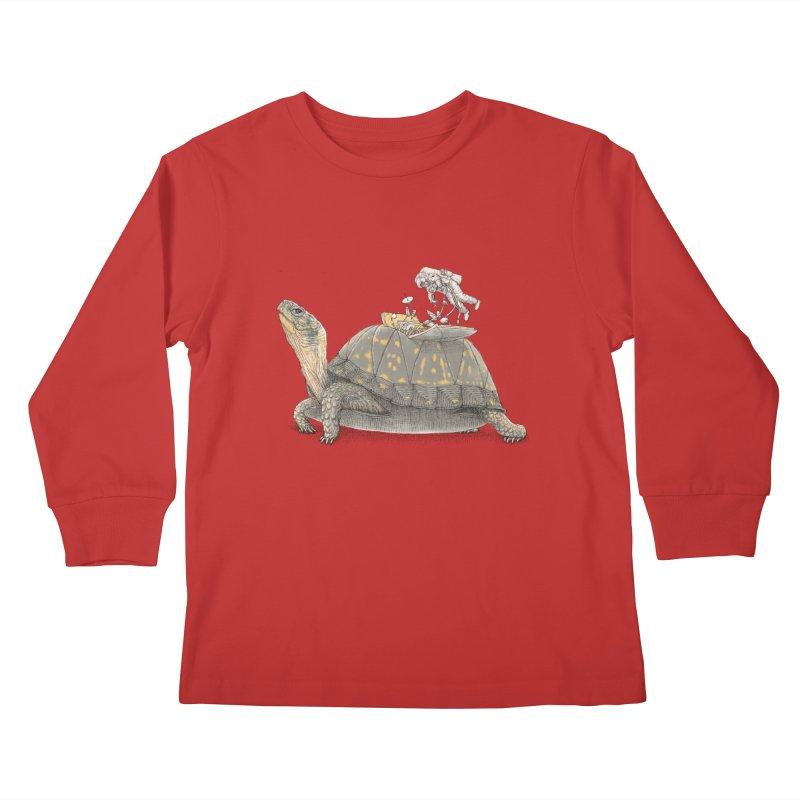busy in holiday Kids Longsleeve T-Shirt by makapa's Artist Shop
