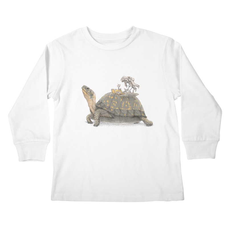 busy in holiday Kids Longsleeve T-Shirt by makapa's Artist Shop