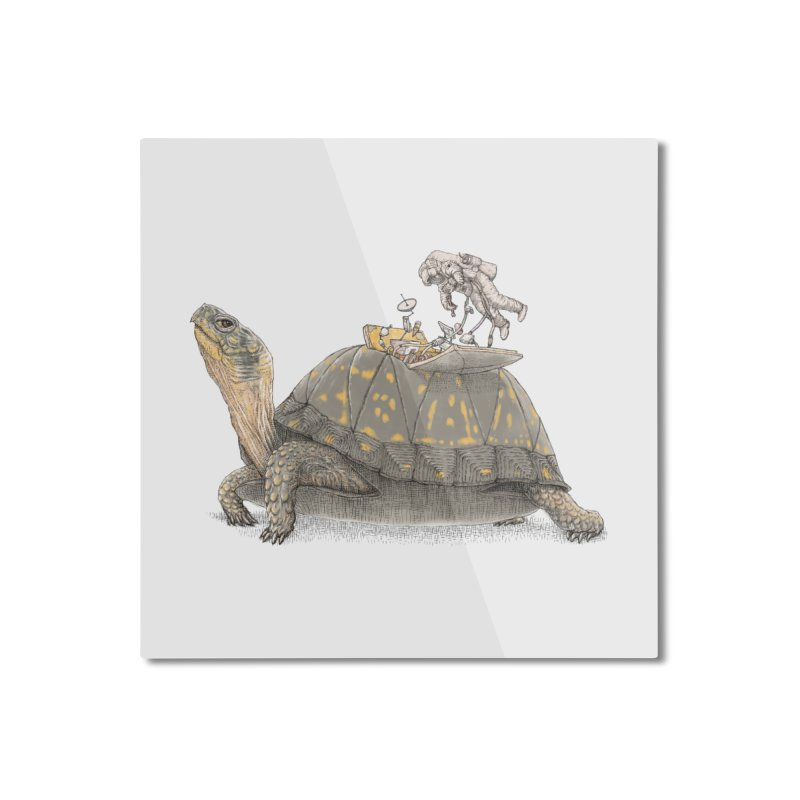 busy in holiday Home Mounted Aluminum Print by makapa's Artist Shop