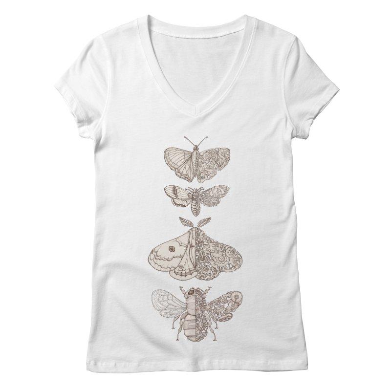 bug scifi Women's V-Neck by makapa's Artist Shop