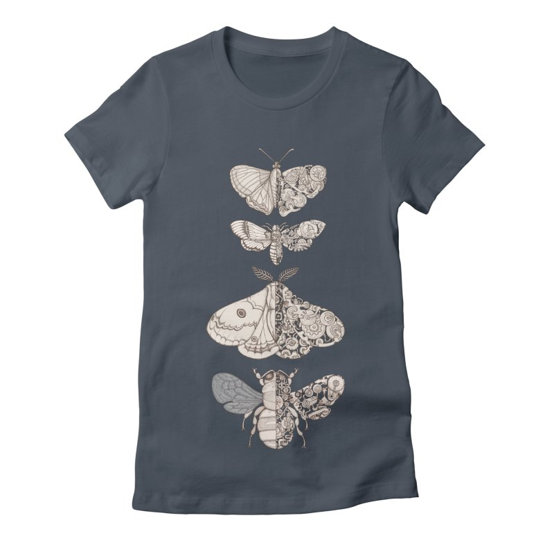 bug scifi Women's Fitted T-Shirt by makapa's Artist Shop