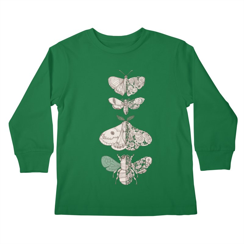 bug scifi Kids Longsleeve T-Shirt by makapa's Artist Shop