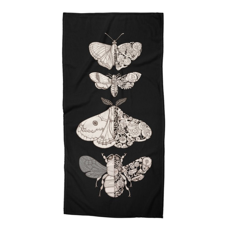 bug scifi Accessories Beach Towel by makapa's Artist Shop