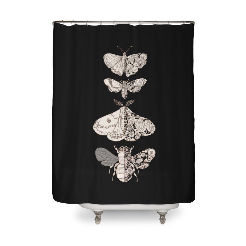 bug scifi Home Shower Curtain by makapa's Artist Shop