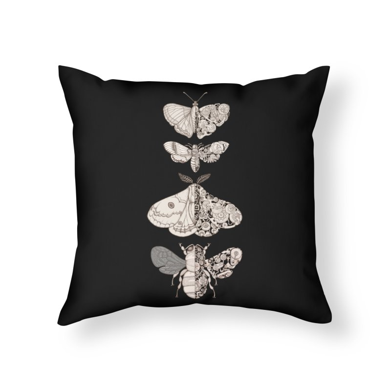bug scifi Home Throw Pillow by makapa's Artist Shop