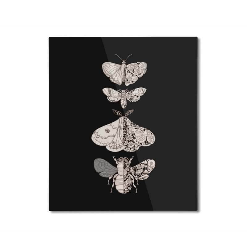 bug scifi Home Mounted Aluminum Print by makapa's Artist Shop