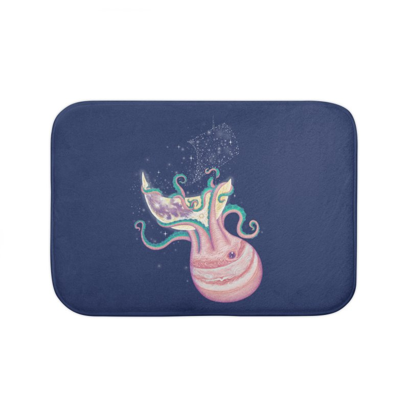 the jupioctopus Home Bath Mat by makapa's Artist Shop